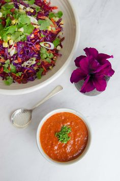 Raw Rainbow Goji Salad / raw • gluten free • dairy free • beauty food / http://ascensionkitchen.com/raw-rainbow-goji-salad/