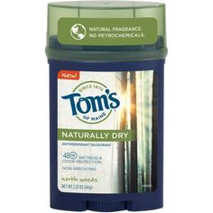 Tom's of Maine Naturally Dry North Woods Antiperspirant Deodorant Stick, 2.25 oz