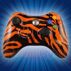 Zebra Orange Xbox 360 Modded Controller is a perfect gift for a special gamer in your life! All of GamingModz.com Xbox 360 modded controllers are compatible with every major game on the market today.  If you decide to get one of our Xbox 360 or Playstation 3 modded controllers, your gaming experience will increase, overall performance will rise and it will allow you to compete against more experienced players.