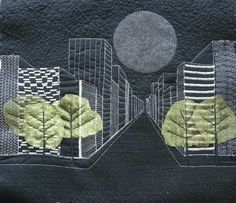 VERY cool dimensional effects  ~  Patchwork & Co.: Free Composition. TEXTILE ART