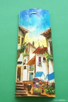 tejas pintadas a mano - Otras Ventas - Pilar de la Horadada Stone Painting, Painting On Wood, Ceramic Roof Tiles, Country Paintings, Clay Flowers, Garden Art, Painted Rocks, New Art, Wall Murals