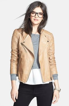 Treasure&Bond Quilted Leather Moto Jacket