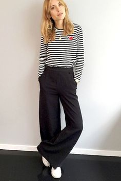 We re taking notes on this cool weekend-ready look from Pernille Teisbaek.  She spruces up an otherwise regular casual outfit with the help of drop  hoop ... 615277692be41