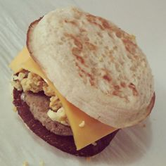 Breakfast Sandwich on English Muffin with Sausage, Egg & Cheese