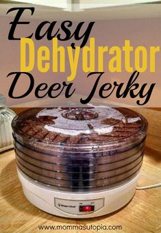 Ground deer jerky recipe and instructions. meat dog food recipe How to Make Deer Jerky in the Dehydrator Ground Deer Jerky Recipe Dehydrator, Ground Beef Jerky Recipe, Venison Jerky Recipe, Pork Jerky, Dehydrator Recipes, Meat Dehydrator, Canned Venison, Ground Venison Recipes, Summer Sausage Recipes