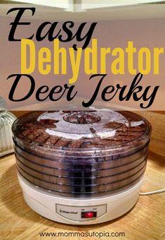 Ground deer jerky recipe and instructions. meat dog food recipe How to Make Deer Jerky in the Dehydrator Venison Jerky Seasoning Recipe, Ground Deer Jerky Recipe Dehydrator, Pork Jerky, Venison Recipes, Dehydrator Recipes, Meat Dehydrator, Canned Venison, Deer Food, Deer Meat