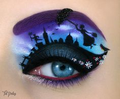 makeup art Mastering a simple winged eyeliner can be hard enough. But Israeli make-up artist Tal Peleg can draw intricate artworks atop her eyelids - drawing inspiration from your favourite Disney Eye Makeup, Eye Makeup Art, Eye Makeup Tips, Eye Art, Makeup Eyes, Fairy Makeup, Mermaid Makeup, Movie Makeup, Eyebrow Makeup