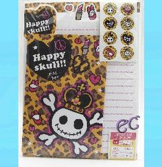 #erasercrazy Royal Happy Skull Cute Letter Set Paper Seals Enve