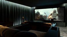 IOTM June 2016 — Artcoustic Home Theatre, Home Cinema Room, Theatre Design, Home Cinema Seating, Cinema Seats, Tower Cinema, Corner Sofa Design, Home Cinemas, Contemporary Decor