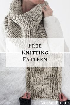 Mar 2020 - Grab this FREE Beginner Women's Cowl Knitting Pattern. This cowl is knit-in-the-round using a simple rib stitch which makes this super quick knit. Outlander Knitting Patterns, Loom Knitting, Knitting Stitches, Free Knitting, Knitting Patterns Free, Crochet Patterns, Sewing Patterns, Free Pattern, Quick Knits