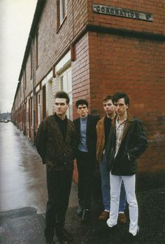 The Smiths – Morrissey, Mike Joyce, Andy Rourke, and Johnny Marr – gallivanting about Salford in 1985 Rock Roll, Good Music, My Music, Music Stuff, Andy Rourke, Mike Joyce, Indie, The Smiths Morrissey, The Queen Is Dead