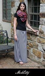 Chevron Slinky Jersey Maxi Dress – The Hottest-Modest Fashion by ModeEsty.com