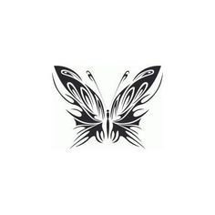 Butterfly Tattoo CDR DXF Vector Layered Cut File Silhouette Cameo Cricut Design Template Stencil Vinyl Decal Tshirt Heat Transfer by SvgDrawingsStore on Etsy