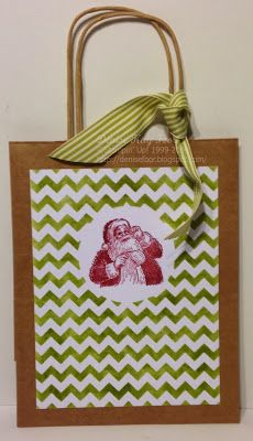BUILD A BANNER KIT, CHRISTMAS, GIFT BAG, SANTA'S LIST, TIPS AND TRICKS, TUTORIAL  Denise Foor Studio PA  tutorial on blog  Stampin' Up!