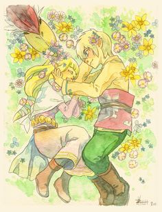 Zelda & Link by Piggy Ho Ho
