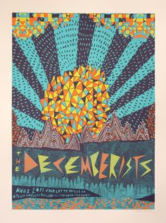 Nate Duval, The Decemberists Music Artwork, Art Music, Graphic Design Posters, Graphic Design Illustration, Musik Illustration, The Decemberists, Vintage Music Posters, Cool Typography, Expressive Art