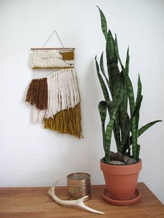 Woven Wall Hanging Tapestry Fiber Art by gillistextiles on Etsy