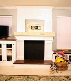 Remodelaholic   Building the Fake Fireplace 2