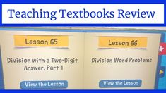 Teaching Textbooks Review Homeschool Math Curriculum, Teaching Textbooks, Middle School, High School, Word Problems, Upper Elementary, The Creator, Student, Reading