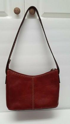 e77d836ea645 Women s Bags   Handbags · Fossil Handbag Womens Oxblood Red Leather  Shoulder Bag Purse Small Medium EUC  fashion  clothing