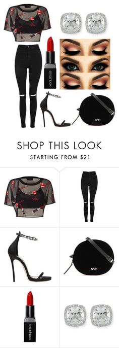 """""""Untitled #277"""" by victoria1221 ❤ liked on Polyvore featuring Topshop, Dsquared2, Smashbox and Frederic Sage"""