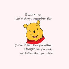 I've read this quote a billion times, but it really is encouraging. I hope you n… I've read this quote a billion times, but it really is encouraging. I hope you n…,Winnie the Pooh. Winne The Pooh, Cute Winnie The Pooh, Winnie The Pooh Quotes, Winnie The Pooh Friends, Book Quotes, Words Quotes, Sayings, Quotes Quotes, Piglet Quotes