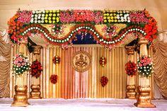Beautifully decorated kalyanamanadapam