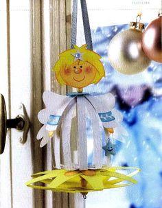 АНГЕЛ Мальчик - Игрушка на елку своими руками, Поделки, Подарки к Рождеству, Новому году в технике бумажных шаров