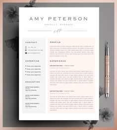 Modern Resume Template For Word  Page Resume  Cover Letter