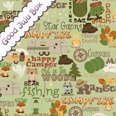 Designerstoffe USA - Camp a Lot - Grün - Riley Blake - ein Designerstück von Good-Juju-Box bei DaWanda