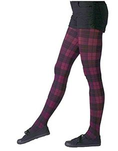 7a32d31294c5a Gipsy Tartan Purple Ladies Tights Gothic Vintage Steampunk Fashion. One  Size 8-16: Amazon.co.uk: Clothing