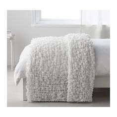 """OFELIA Blanket IKEA Fits beds up to 71"""" wide since the blanket is stretchable."""