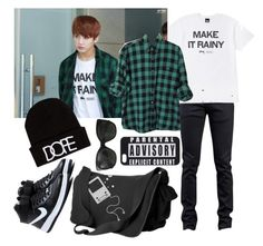 """""""//BTS// Jungkook Inspired #2"""" by vocaloid523 ❤ liked on Polyvore featuring Naked & Famous, UNIF, Chanel and NIKE"""