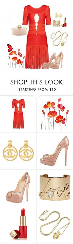 """Posh Girl"" by poshgirlus on Polyvore featuring Chanel, Posh Girl, Lanvin, Estée Lauder, Christian Dior and Oscar de la Renta"