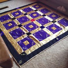 Crown royal quilt I made lance for vday!