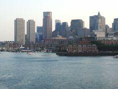 Boston Harbour New York Skyline, Boston, Travel, Voyage, Trips, Viajes, Destinations, Traveling