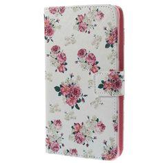 Samsung Galaxy Note 4 Lommebok Lærveske - Roser