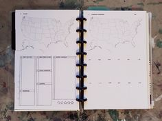 """5.5"""" by 8.5"""" Travel Templates - make notes about a place you're planning to visit. Junior ARC disc-bound notebook from Staples. FAVE"""