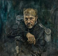 Arrested Motion Jonathan Yeo has a show of his portraiture coming up at the National Portrait Gallery in London including this one of Kevin Spacey as Richard III British Artist, National Portrait Gallery, Jonathan Yeo, Hirst, Urban Art, Painting, Artwork, Portrait, Portrait Gallery