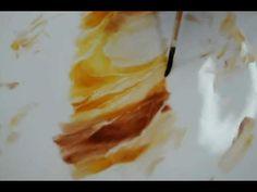Wild roseポーセリンペインティング~平筆で描くワイルドローズ - YouTube