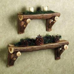 rustic wall decor shelf