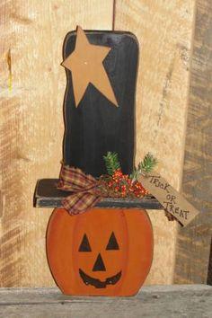 Tall Hat Pumpkin Man PATTERN