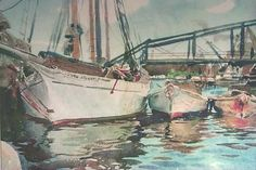 Boats at Anchor by John Singer Sargent