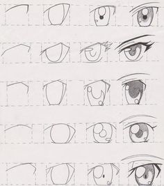 AnatoRef — Manga Eyes Top Image Row 2: Left, Right Row 3:...