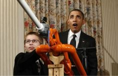 Who could resist a marshmallow cannon? #Barack_Obama #Marshmallow_Shooter