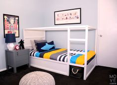 A Room to Grow UP In | Move LifeStyle | Nightstand and Pouf from @The Land of Nod #sproutingup