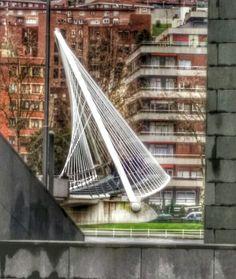 Angulos imposibles. PUENTE ZUBIZURI, Bilbao