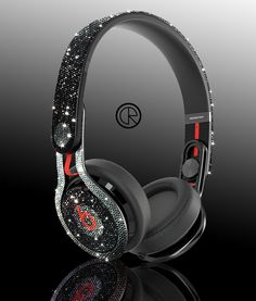Awesome Swarovski Dr Dre Mixr Headphones by Crystal Rocked