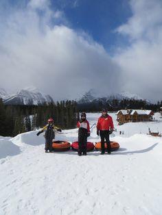 Big Grey Rocks: Kids Hiking, Biking, Skiing, Snowshoeing and More in Banff, Kananaskis and Beyond: Tubing with Kids at Lake Louise #MinitimeDreamHoliday