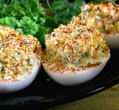 """Loaded"" Deviled Eggs"